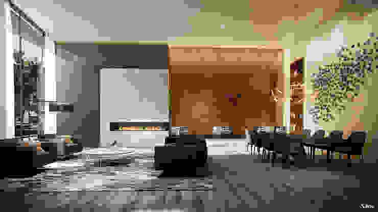 Ruang Keluarga Modern Oleh Xline chile Modern