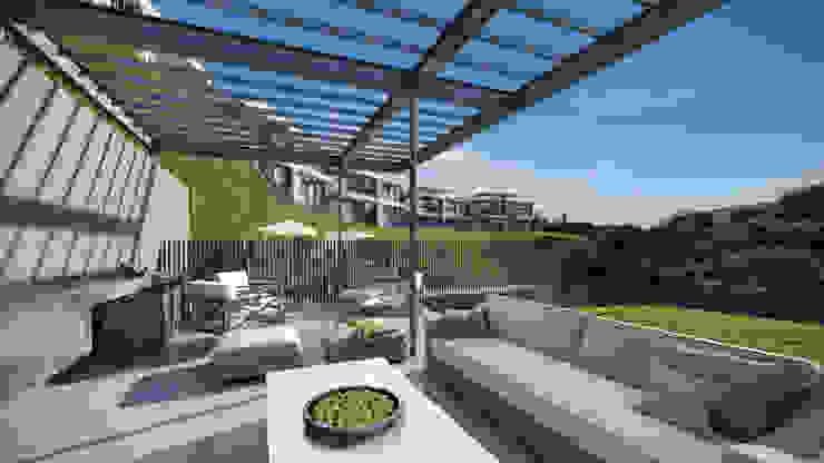 Depthouse Los Trapenses – Castro & Tagle Inmobiliaria Jardines de estilo moderno de Xline chile Moderno