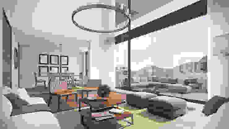 Depthouse Los Trapenses – Castro & Tagle Inmobiliaria Livings de estilo moderno de Xline chile Moderno