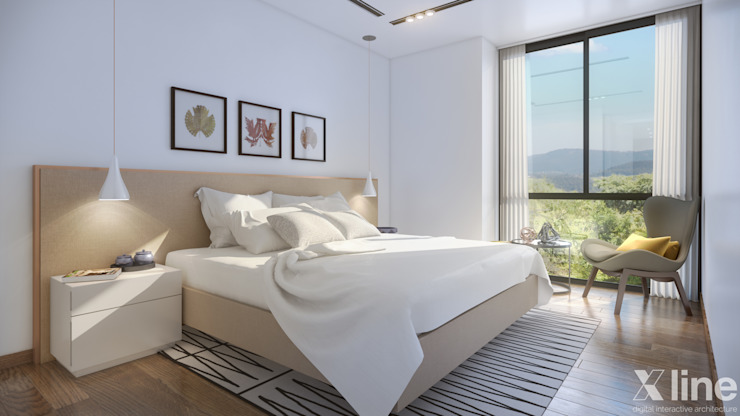 Modern style bedroom by Xline 3D Digital Architecture Modern