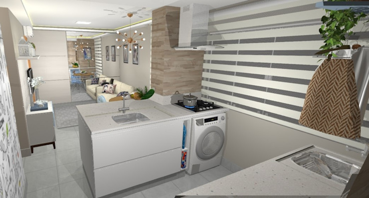 Kitchen units by Arquiteta Elaine Silva,