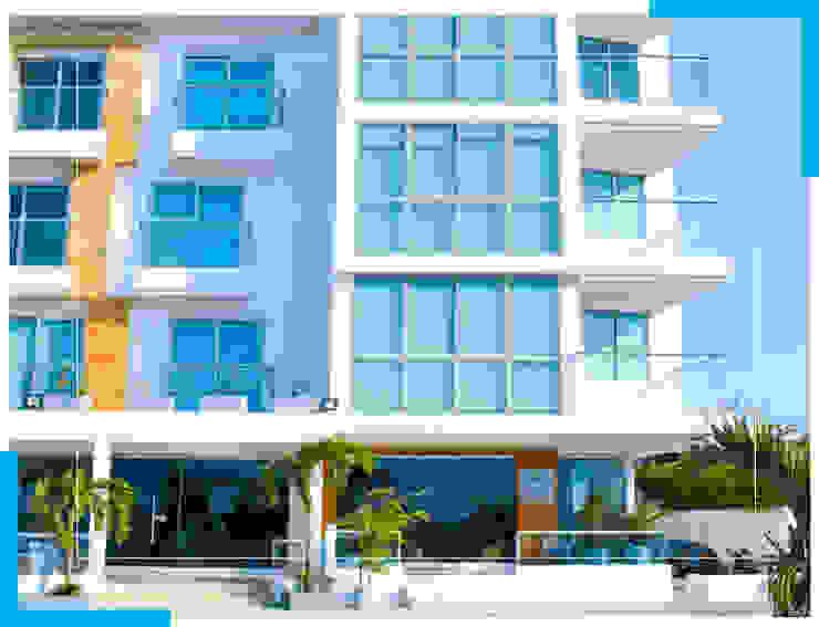 hotel Dormitorios minimalistas de construcciones y soluciones integrales s.a.s Minimalista Concreto reforzado