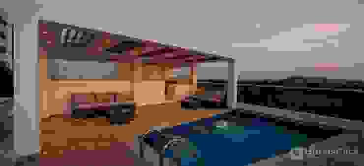 piscina zona so ial hote summer de construcciones y soluciones integrales s.a.s Minimalista Vidrio