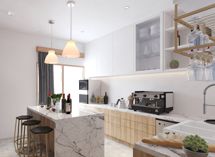 Gallery West Apartment:  Dapur by Jati and Teak