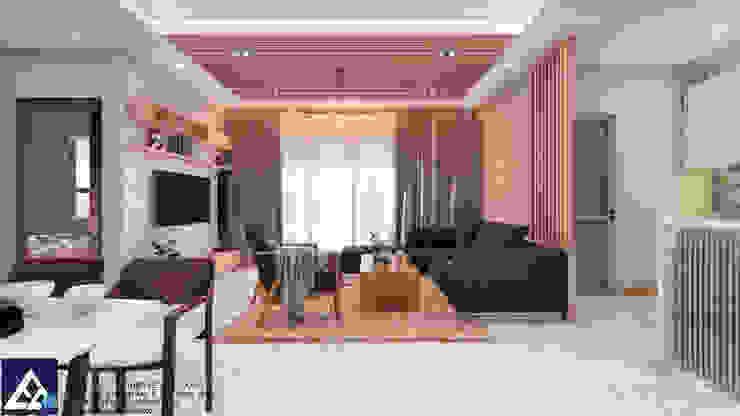 Thiết kế & Thi công Nội Thất Căn hộ - GoldView Quận 4 bởi Công ty ĐT-TV Thiết Kế & Xây Dựng ECO Hiện đại