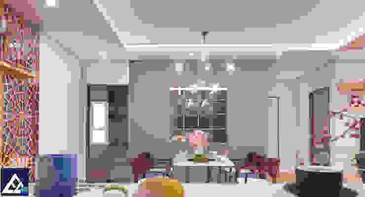 Thiết kế & Thi công Nội Thất Căn hộ – GoldView Quận 4 Phòng ăn phong cách hiện đại bởi Công ty ĐT-TV Thiết Kế & Xây Dựng ECO Hiện đại