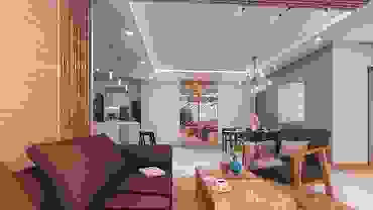 Modern living room by Công ty ĐT-TV Thiết Kế & Xây Dựng ECO Modern