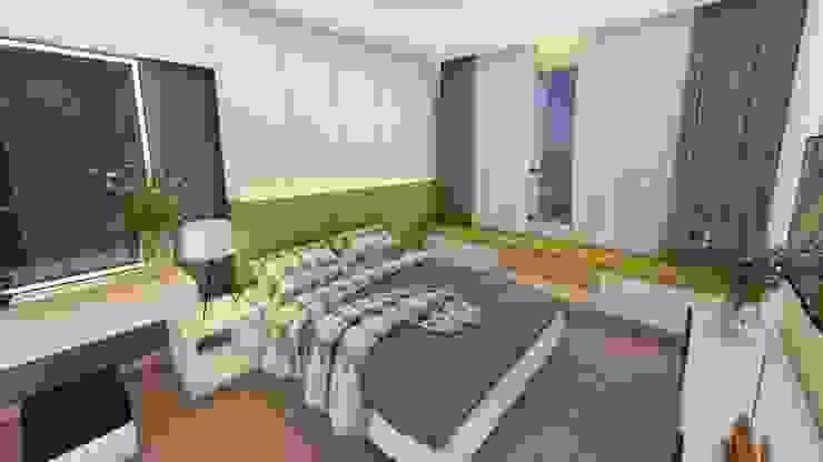 Thiết kế & Thi công Nội Thất Căn hộ – GoldView Quận 4 Phòng ngủ phong cách hiện đại bởi Công ty ĐT-TV Thiết Kế & Xây Dựng ECO Hiện đại