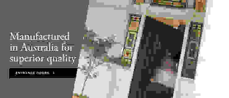 Entrance Doors par Armadale Doors & Leadlights Classique