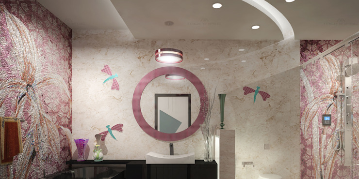 Eco Friendly Flat Interiors in Kerala Asian style bathroom by Monnaie Interiors Pvt Ltd Asian