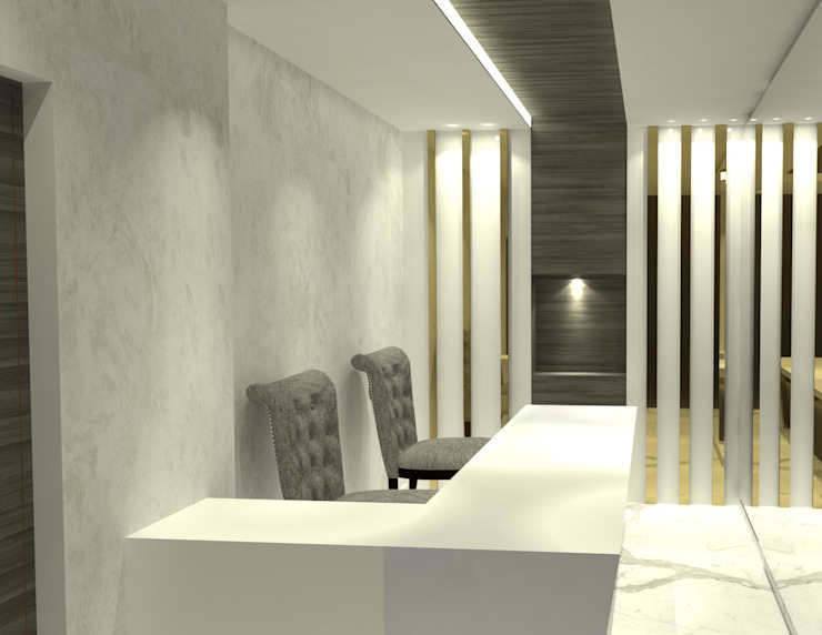 Gold Sales office Eclectic style offices & stores by Freelance designer Eclectic