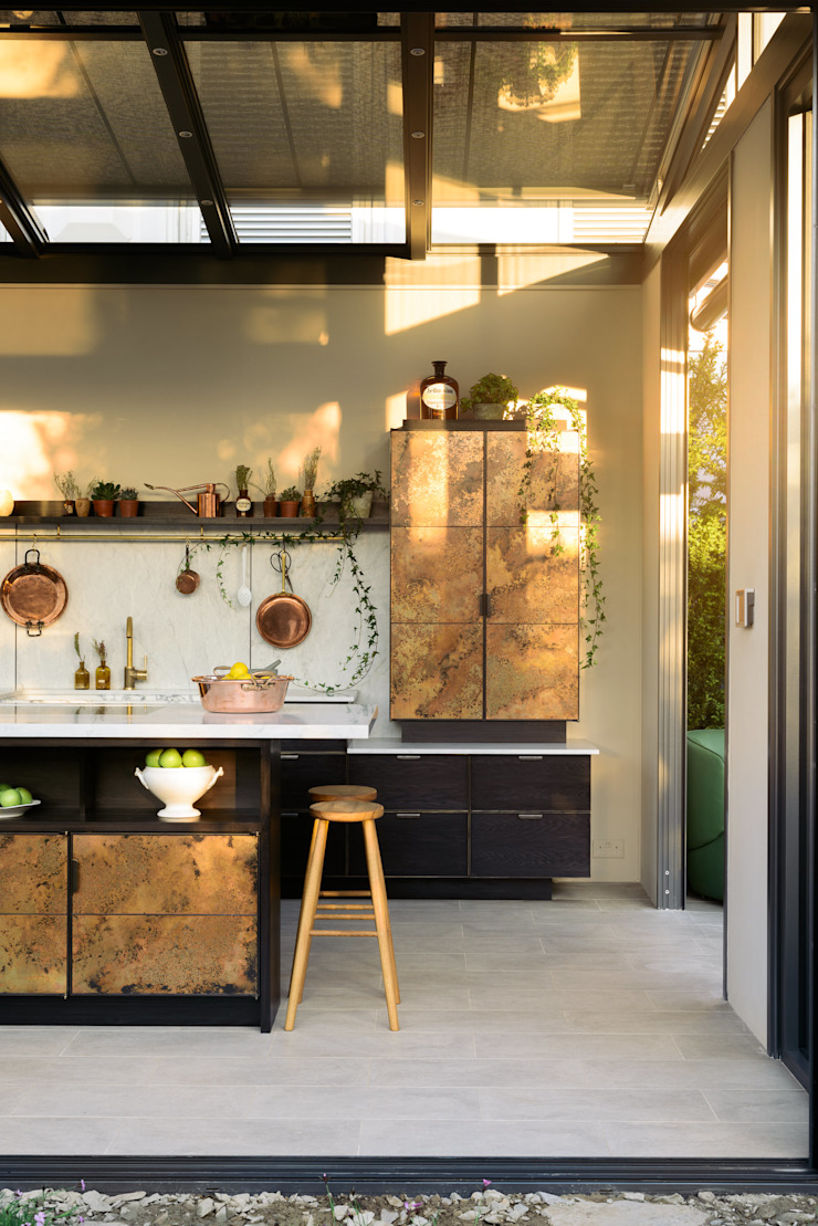 "The ""elemental"" Kitchen by Charlie Smallbone and deVOL Modern Kitchen by deVOL Kitchens Modern Solid Wood Multicolored"