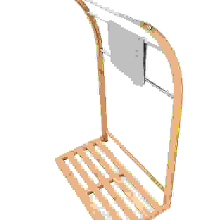 Freestanding Towel Rack Finoak LTD BañosEstanterías Bambú Acabado en madera