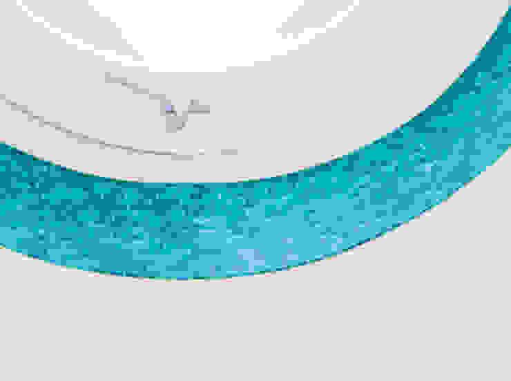 mosaico turchese per oblò di ADIdesign* studio Moderno Ceramica