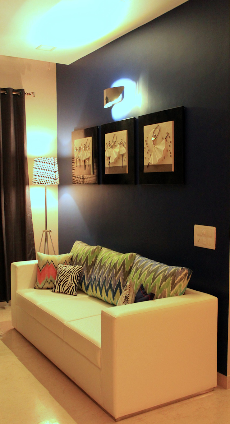 Residential Project—Palm Beach Residency, Navi Mumbai Modern living room by Dezinebox Modern
