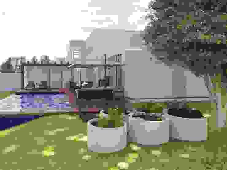 Horta por Daniela Ponsoni Arquitetura Moderno