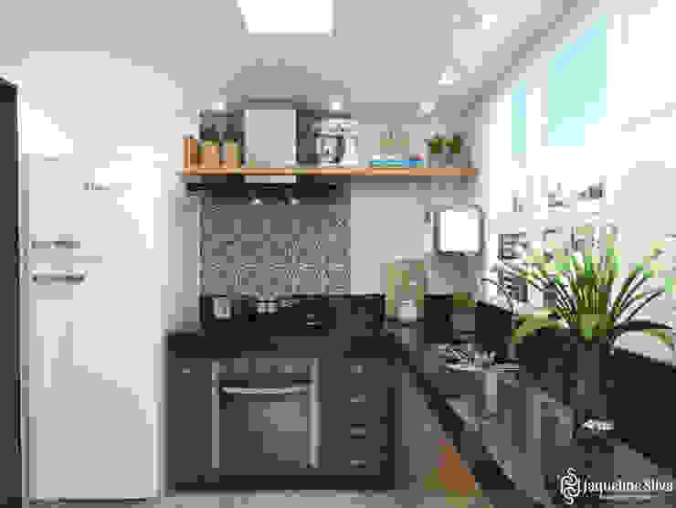 Cozinha - Apartamento MM JAQUELINE SILVA ARQUITETURA E INTERIORES Cozinhas modernas MDF Azul