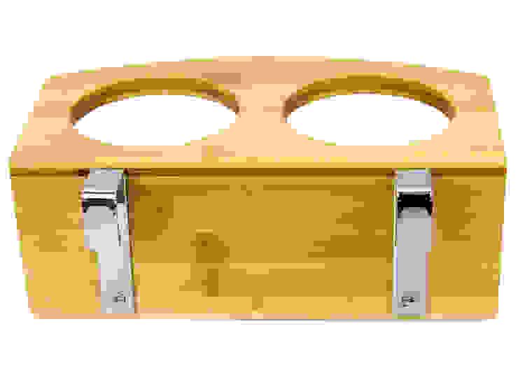 Clip on Bedside Cup Holder Finoak LTD DormitoriosMesitas de noche Bambú Acabado en madera
