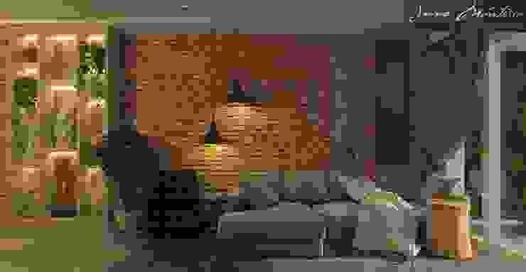 Rustic style living room by Arquiteta Joana Monteiro Rustic