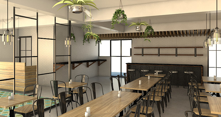Garden themed Restaurant - Restaurant Renovation: asian  by Zhardei Alyson Architect, Asian