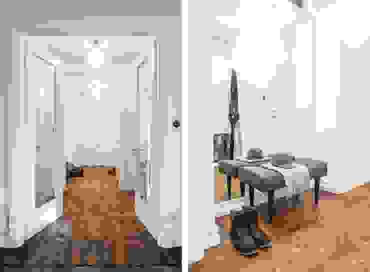 Scandinavian style corridor, hallway& stairs by Baltic Design Shop Scandinavian Wood Wood effect