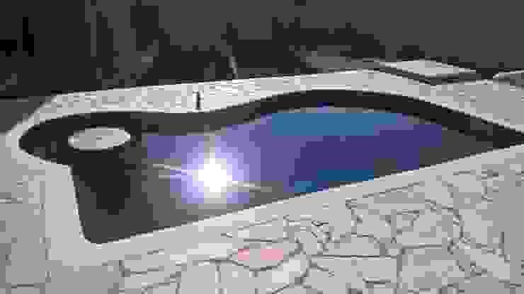 Vila Nova Piscinas 家庭用プール コンクリート 青色