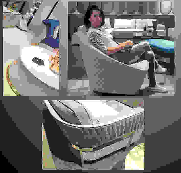 Sgabello Interiores Living roomSofas & armchairs Synthetic Grey