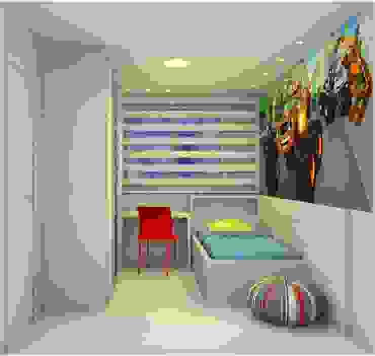 Quarto de Menino Studio Elabora Quartos dos meninos MDF Azul