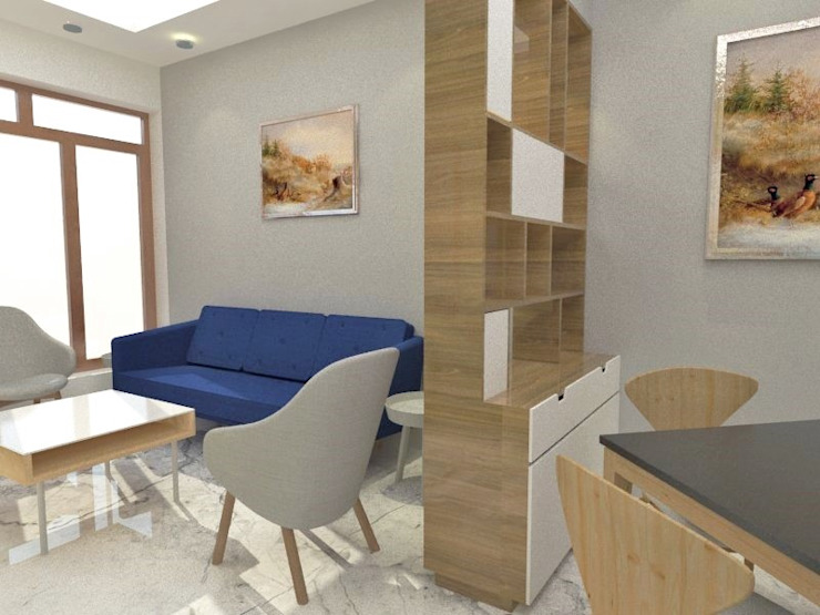 Interiors at Sector 43 | Gurgaon Classic style living room by Studio Square Design Co. Classic