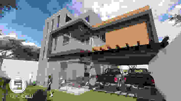 Fachada posterior Casas modernas de homify Moderno