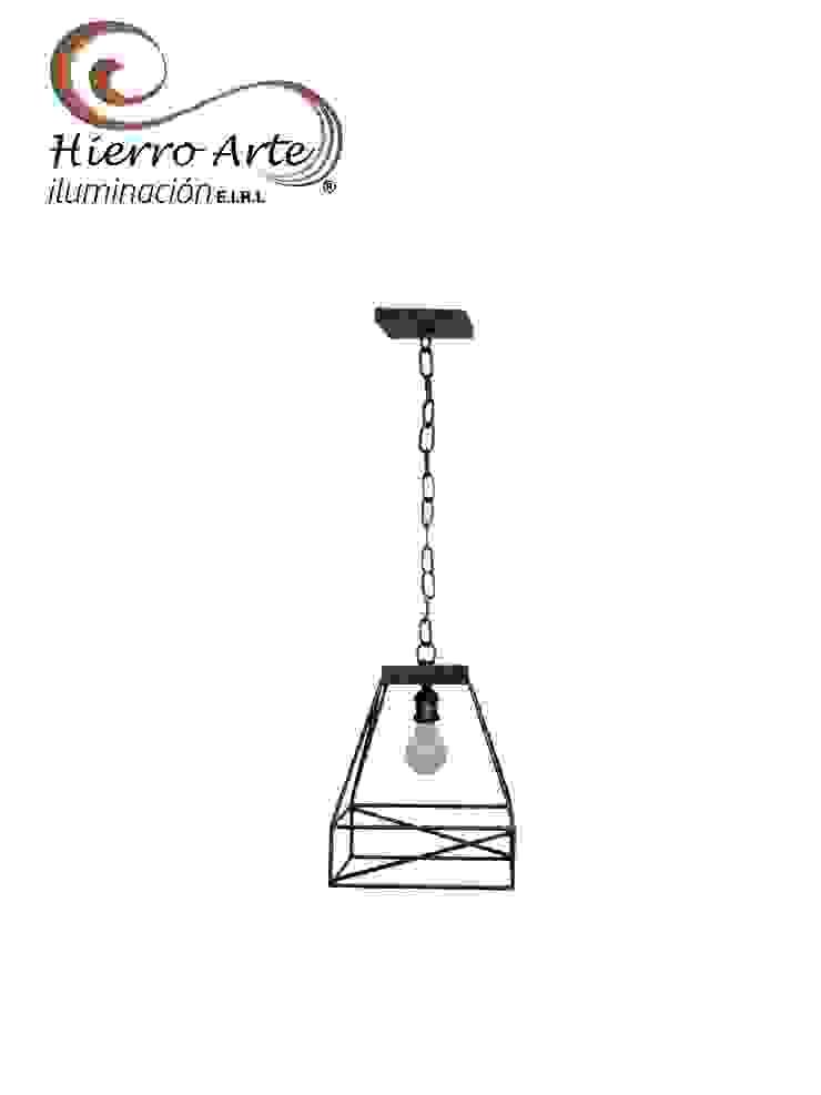 Lámpara de techo pirámide LT3048C:  de estilo industrial por Hierro Arte Iluminación EIRL, Industrial Hierro/Acero