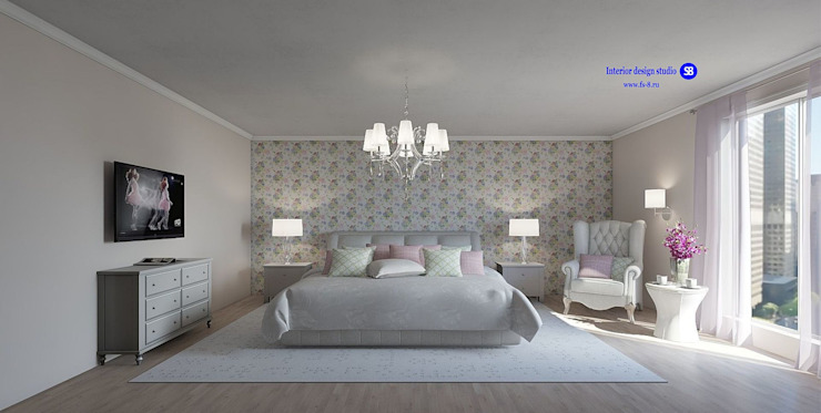 Bedroom in classic style Classic style bedroom by 'Design studio S-8' Classic