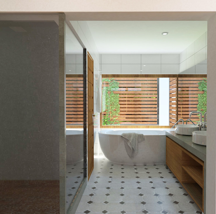 Baño Suite Baños de estilo moderno de EnVoga Moderno