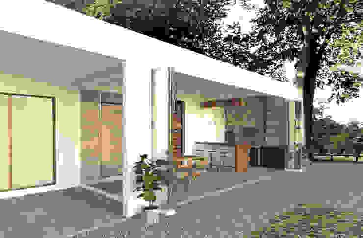 Quincho Balcones y terrazas modernos de EnVoga Moderno