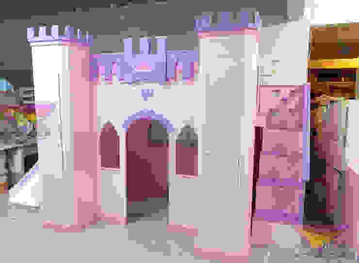 Magnifico castillo para niñas de camas y literas infantiles kids world Clásico Derivados de madera Transparente