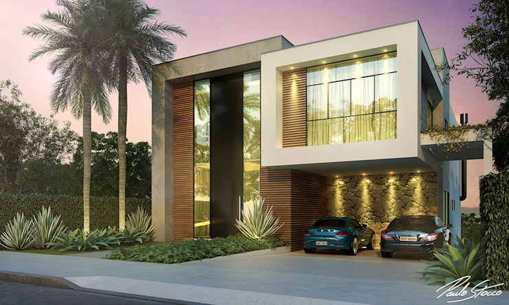 Paulo Stocco Arquiteto 現代房屋設計點子、靈感 & 圖片