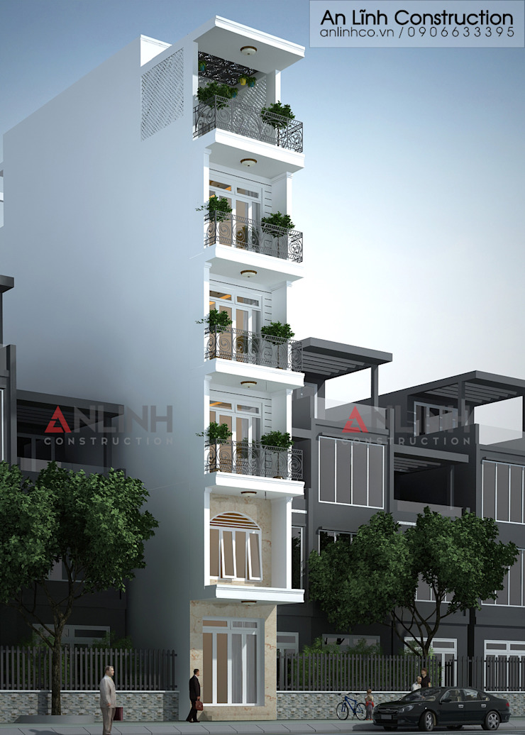 Mẫu nhà phố - TRẦN TÔ HẢO bởi CÔNG TY THIẾT KẾ XÂY DỰNG AN LĨNH