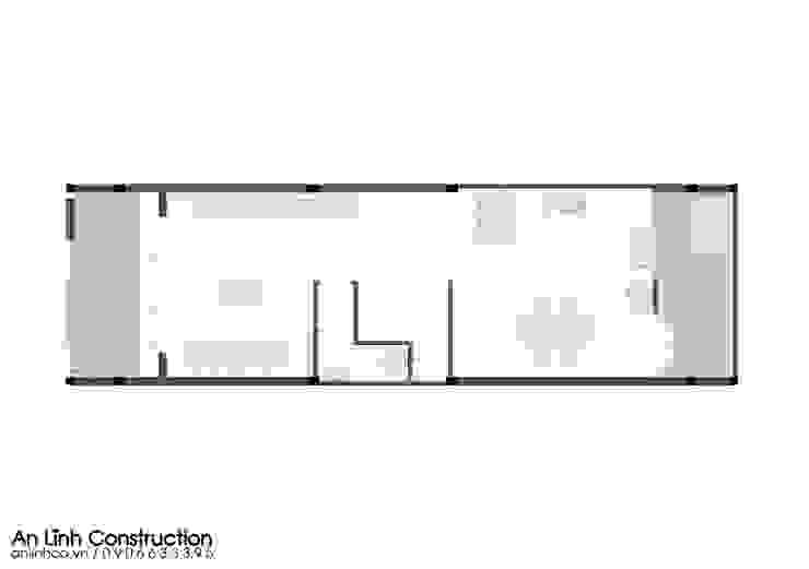 Mẫu nhà phố – TRẦN NGUYỄN ANH VŨ bởi CÔNG TY THIẾT KẾ XÂY DỰNG AN LĨNH