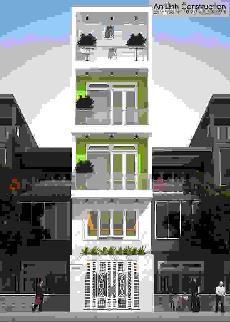 Mẫu nhà phố - TÔ KIM QUỲNH bởi CÔNG TY THIẾT KẾ XÂY DỰNG AN LĨNH