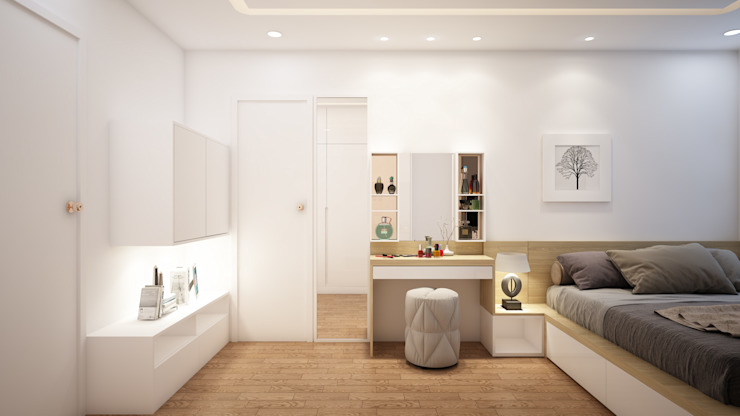 Thiết kế và thi công nội thất căn hộ chung cư tại TPHCM liên hệ 0911.120.739: hiện đại  by TNHH xây dựng và thiết kế nội thất AN PHÚ CONs 0911.120.739, Hiện đại Mây / đan lát Turquoise