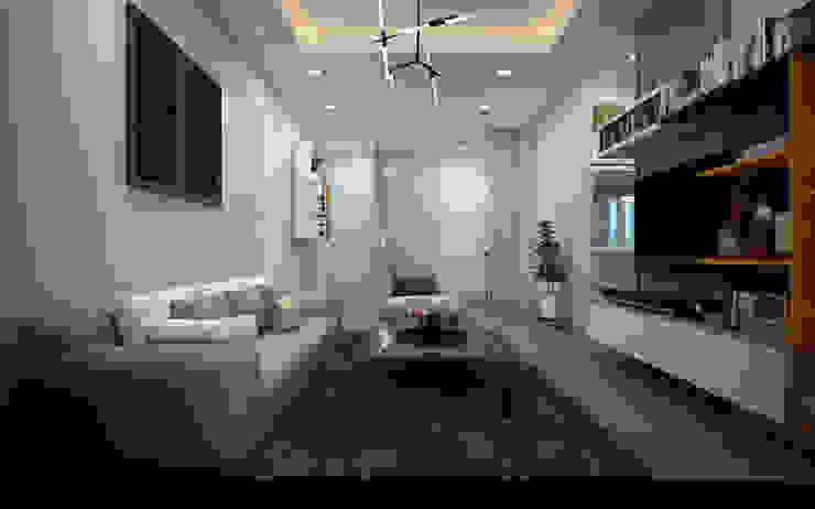 Thiết kế và thi công nội thất căn hộ chung cư tại TPHCM liên hệ 0911.120.739: hiện đại  by TNHH xây dựng và thiết kế nội thất AN PHÚ CONs 0911.120.739, Hiện đại Bê tông cốt thép