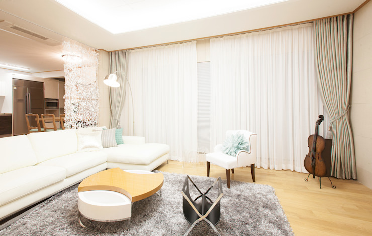 Living room by 더디자인 the dsgn