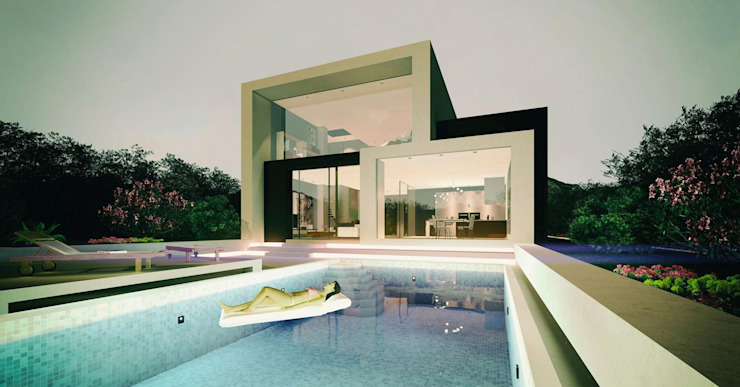Villa Tangled: modern  by Archivite Architecture,Modern