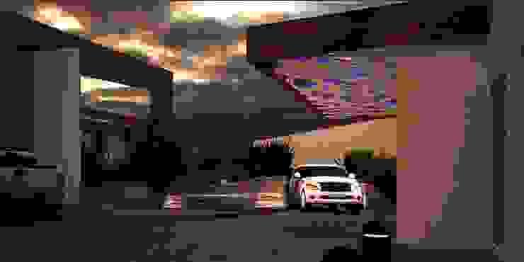 A-labastrum arquitectos Front yard Tiles Pink