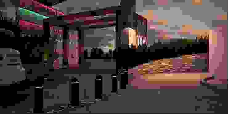 A-labastrum arquitectos Modern houses Ceramic Pink