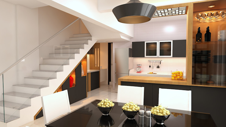 Storage under staircase by Fuze Interiors Modern