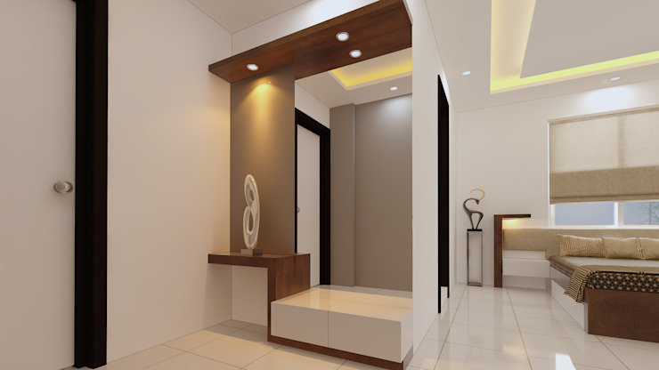 Lobby and bedroom Modern dressing room by Fuze Interiors Modern