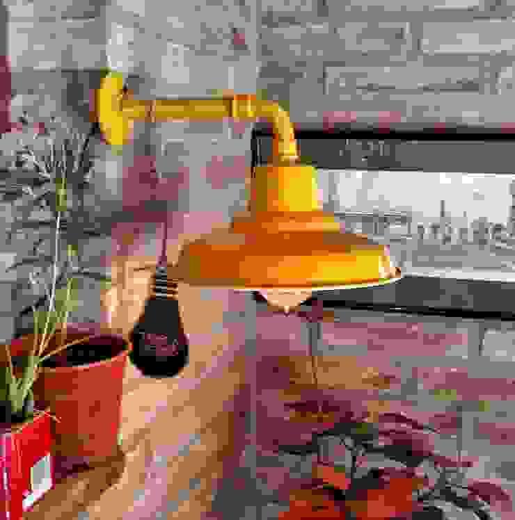 Lamparas Vintage Vieja Eddie Interior landscaping Iron/Steel Amber/Gold
