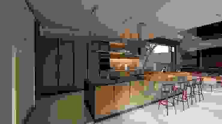 Casa Entre Rocas de Mimesis Arquitectura y diseño Moderno Metal