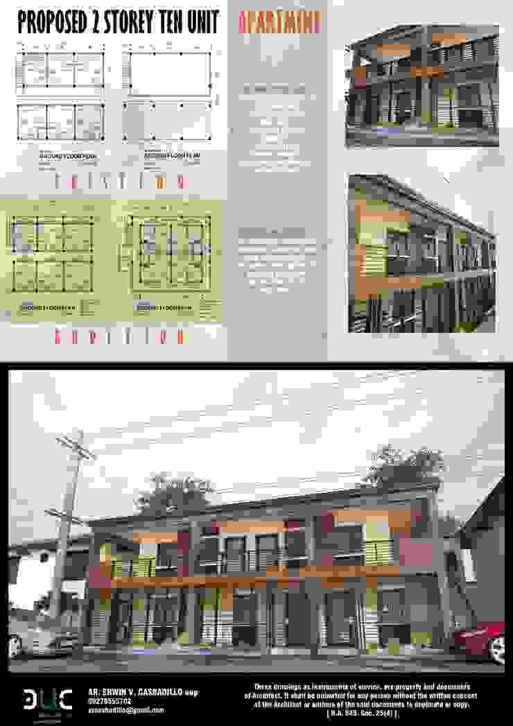 10 Unit Apartment by E.V.Casbadillo Arquitectura Modern Copper/Bronze/Brass
